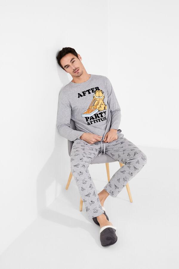 efff91609e Womensecret Pijama largo algodón Garfield gris