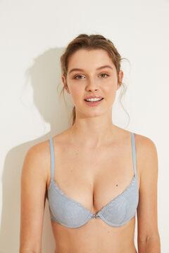 Womensecret GORGEOUS Blue plumetis push-up bra blue