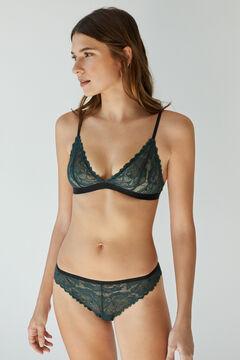 Womensecret Green lace Brazilian panty green