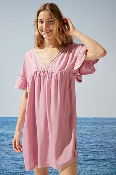 Womensecret Flounced short-sleeved dress pink