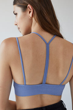 Womensecret Blue seamless sustainable top blue
