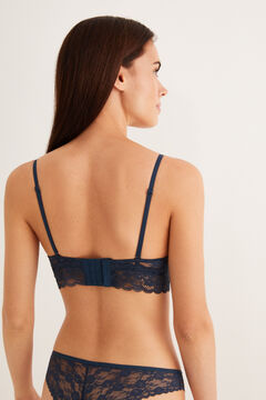 Womensecret Lace push-up bra blue