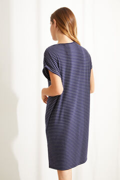 Womensecret Super soft jersey-knit striped Minnie nightgown blue
