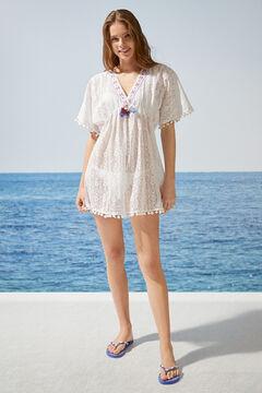Womensecret Crochet tunic dress  white