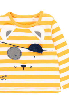 Womensecret Camiseta punto listada de bebé y niño estampado