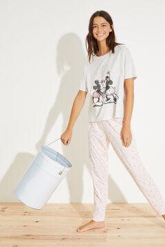 Womensecret Long cotton Mickey and Minnie pyjamas with cotton grey