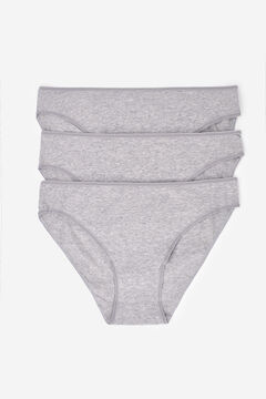 Womensecret 3 cotton classic panties pack grey