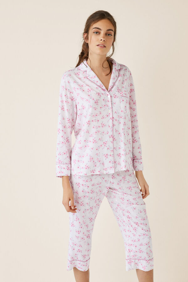 cb296d7df8 Womensecret Pijama camisero capri oriental estampado