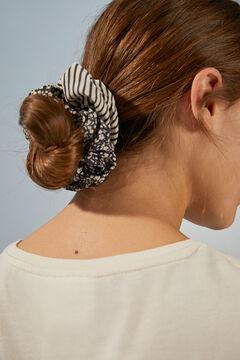 Womensecret 2-pack printed scrunchies black