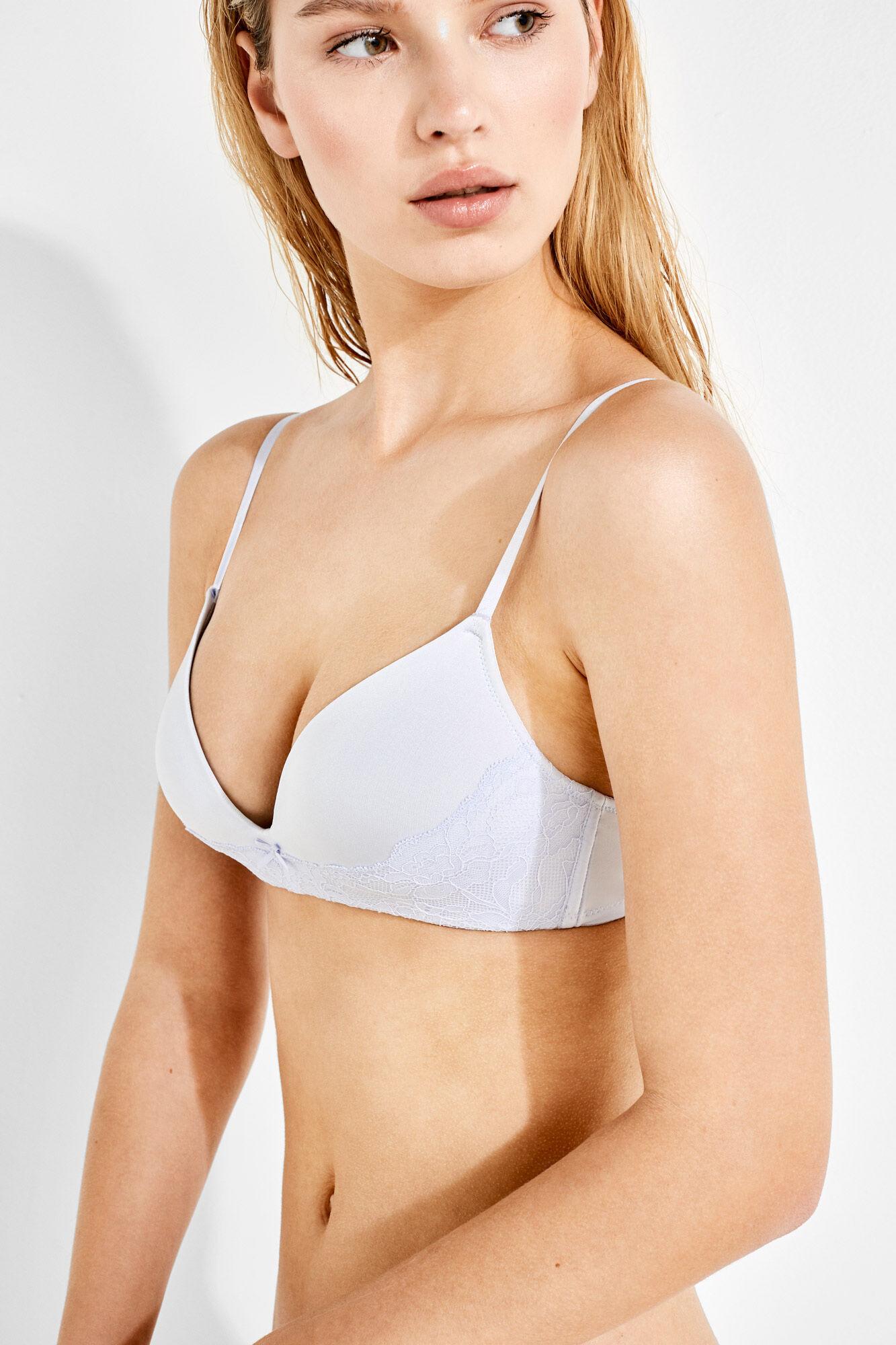 92b1f6184d20 Triangle bra with lace detail | Triangle | Women'secret