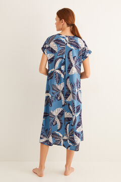 Womensecret Printed midi Dress blue