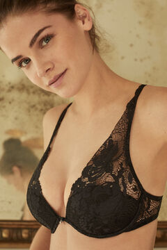 Womensecret INTUITIVE Neckholder-BH mit Polstern aus Spitze Schwarz Schwarz