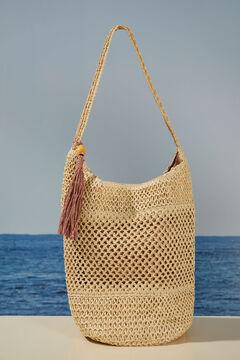 Womensecret Natural raffia bag beige