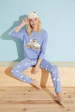Womensecret Pijama largo algodón azul Moderna de Pueblo azul