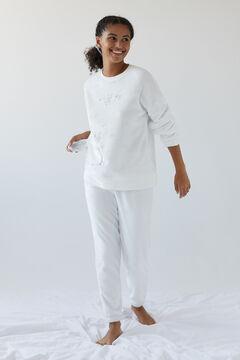 Womensecret Pijama polar Snoopy marfim beige