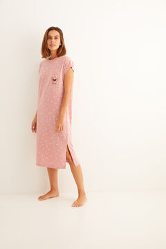 Womensecret Elmo short-sleeved midi nightgown rose