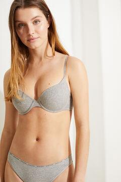Womensecret BEAUTIFUL Sujetador clásico algodón orgánico gris