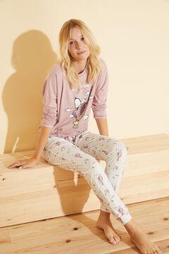 Womensecret Long pink cotton Snoopy pyjamas  pink