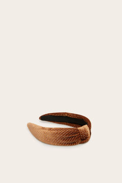 Womensecret Brown velvet knot headband printed