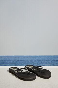 Womensecret Snoopy print flip-flops black