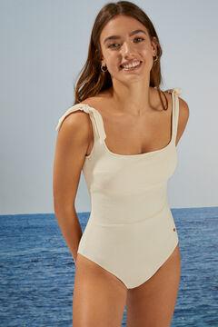 Womensecret White ties shaping swimsuit beige