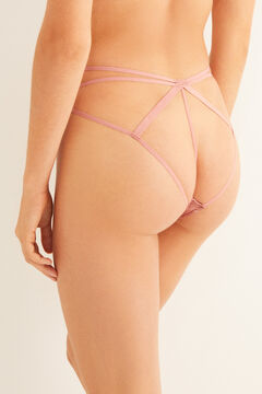 Womensecret Classic pink lace strappy panty pink