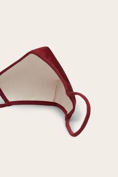 Womensecret Máscara higiénica homologada reutilizável anatómica bordeaux vermelho
