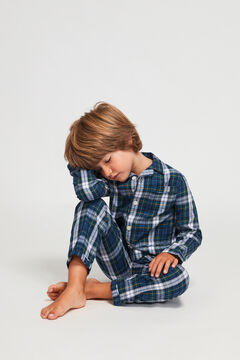 Womensecret Pijama Comprido Xadrez para menino azul