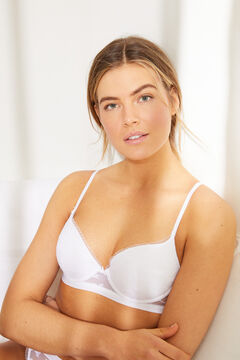 Womensecret BEAUTIFUL Classic white lace padded bra white