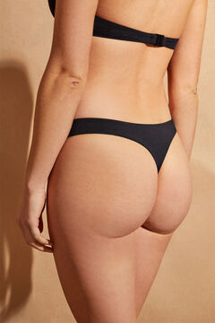Womensecret Tanga bikini pico delantero  negro
