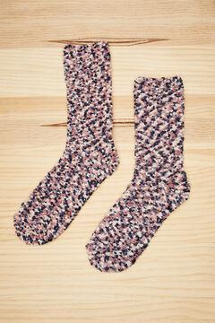 Womensecret Fluffy bobbly socks printed