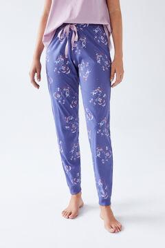 Womensecret Long blue cotton trousers  blue