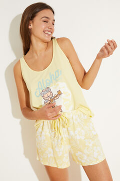 Womensecret Yellow cotton vest pyjamas green