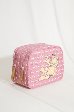 Womensecret Large pink camel Garfield vanity case pink