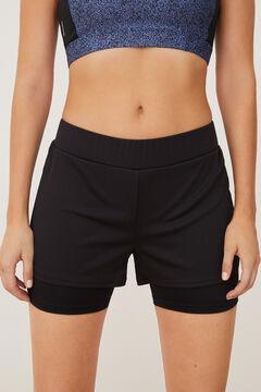 Womensecret Calças desportivas curtas preto