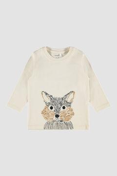 Womensecret Camiseta animal de bebé blanco