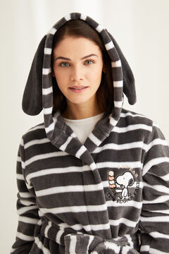 Womensecret Short Snoopy robe with long sleeves printed