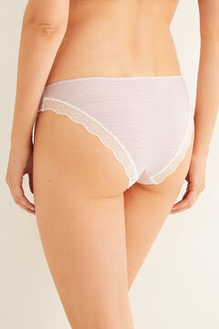 Womensecret Lace detail classic cotton panty  red