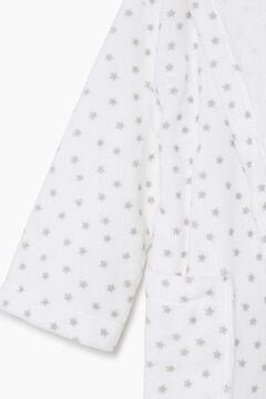 Womensecret Albornoz niños rizo 100% algodón estrellas  marrón