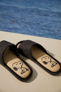 Womensecret Snoopy print raffia sandals printed