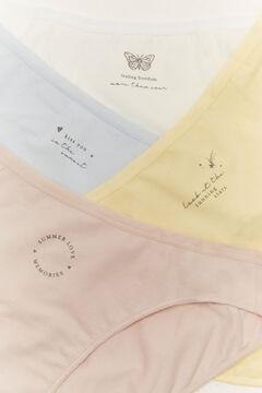 Womensecret 7-pack classic blue printed cotton panties printed