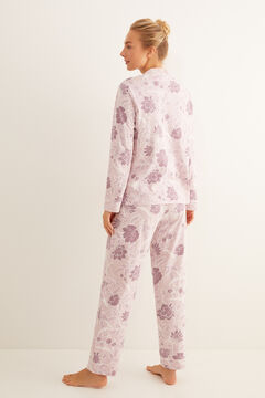 Womensecret Floral print pink classic pyjamas pink