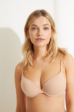 Womensecret Organic cotton push-up bra nude