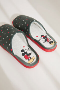 Womensecret Pantufas sem calcanhar do Mickey beige