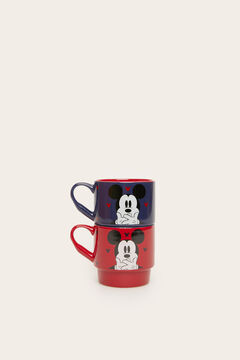 Womensecret Red and blue Mickey cups pack. white
