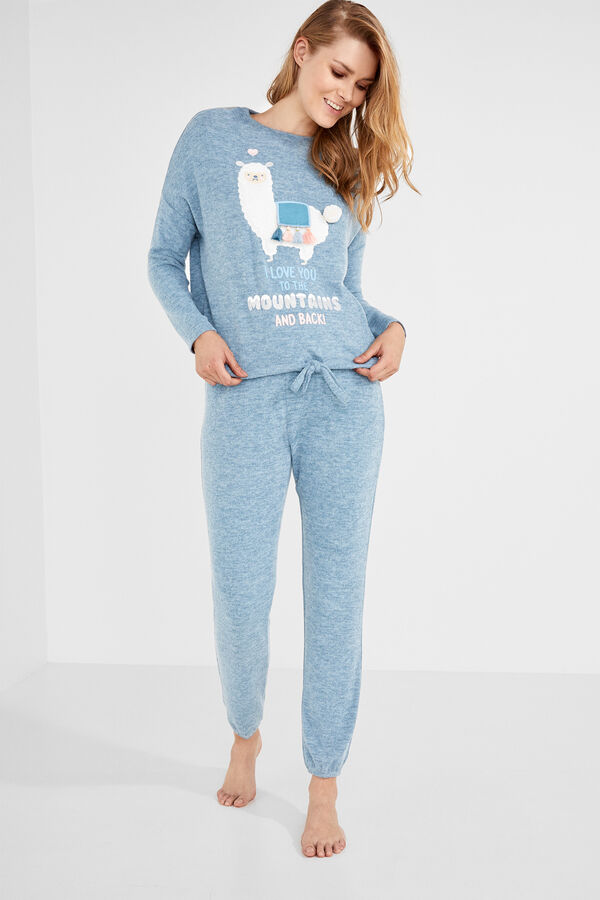 4b7c0809a Womensecret Pijama largo  I love you to the mountains and back  gris
