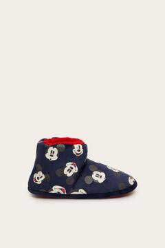 Womensecret Zapatilla casa tipo bota Mickey navy azul