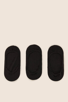 Womensecret Pack of 3 invisible socks black