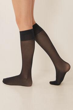 Womensecret 2-pack black compression stockings black