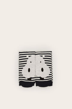 Womensecret Long striped hippo socks grey